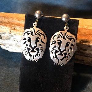 Jewelry - Sterling Silver Lion Earrings